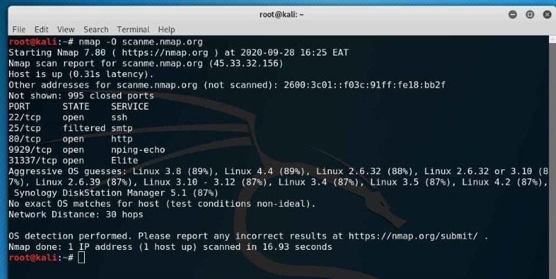 Nmap - Linux port scanners