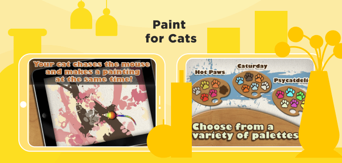 Paint for Cats, cat games for iPad