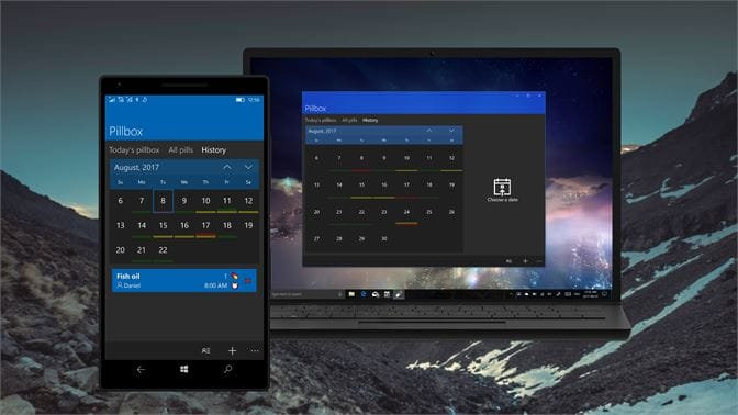 Pillbox medicine reminder apps for Windows