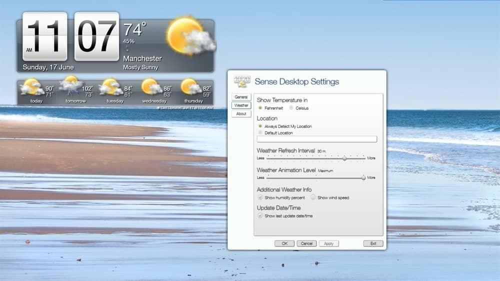 Sense Clock for PC
