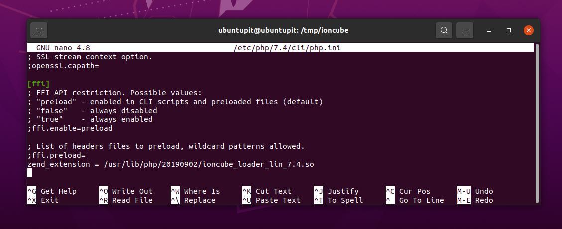 configure IonCube loader on Ubuntu