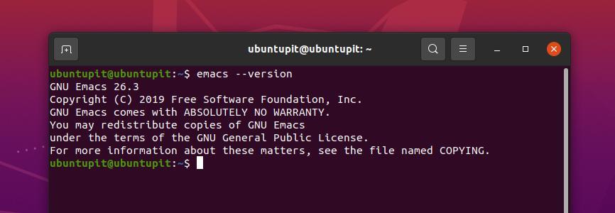 emacs version