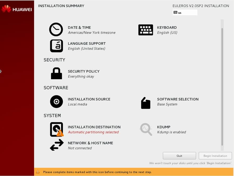 euleros - Red Hat-based Linux distributions