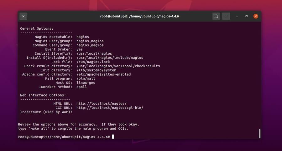 nagios in ubuntu details