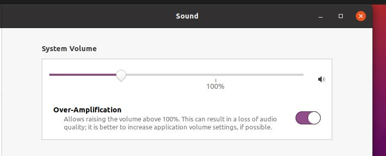 over amiplification sound issues