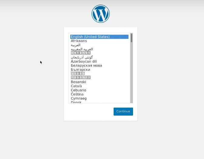 setup WP on web