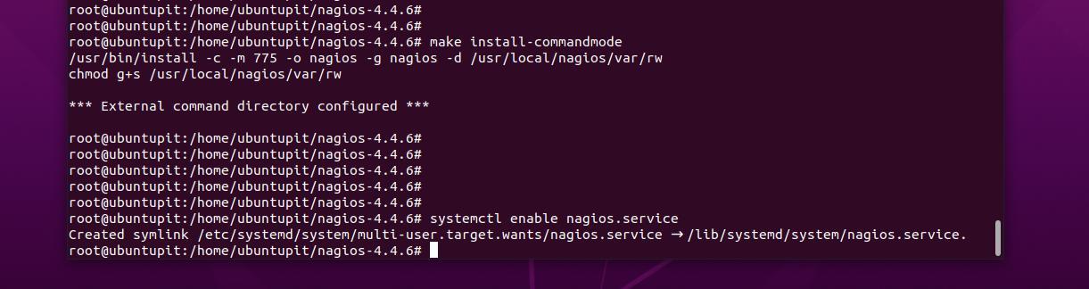 systemctl Nagios in Ubuntu