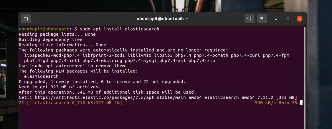 APT install Elasticsearch on Ubuntu