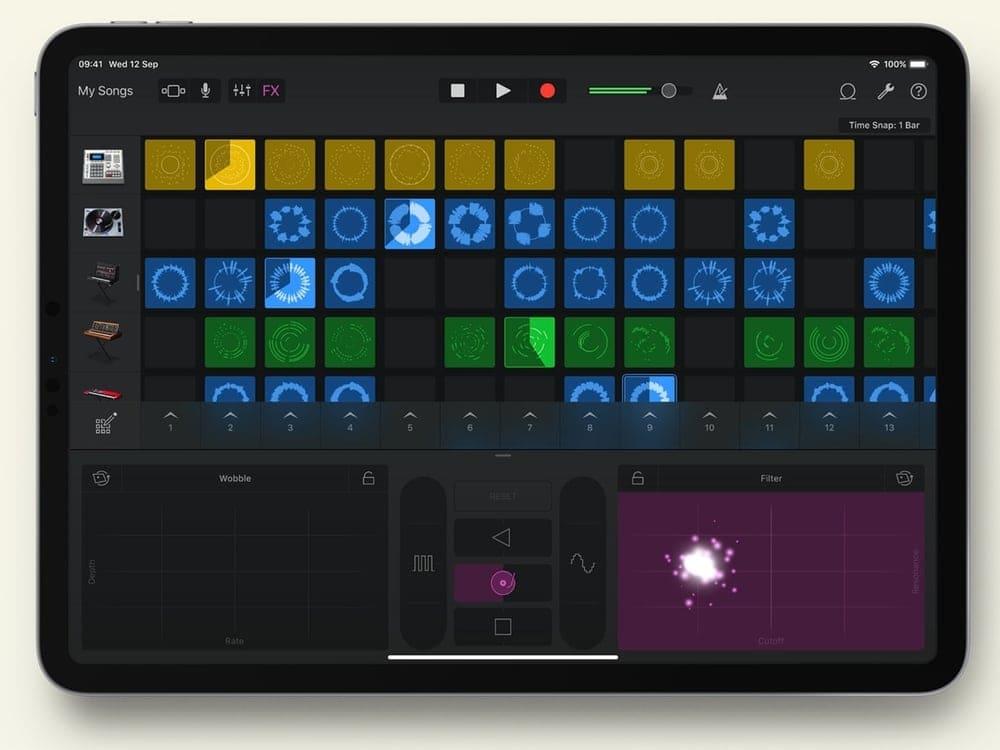 GarageBand, best apps for iPad