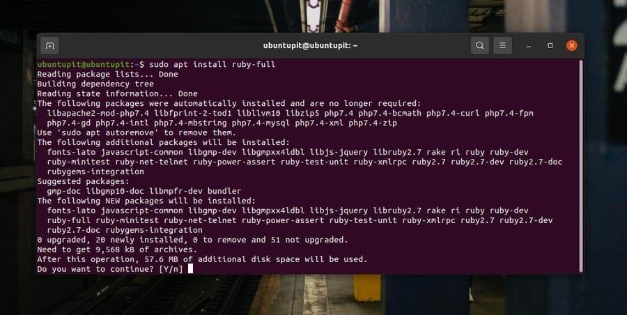 Ruby Full on Debian