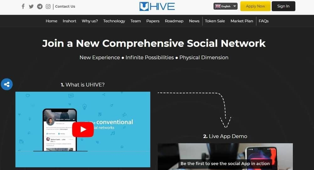 Uhive Best Blockchain Projects