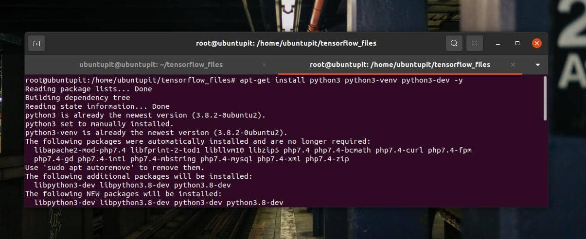 apt-get install python3
