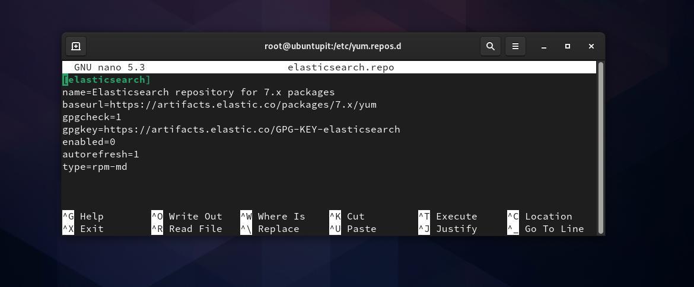configure elasticsearch on Fedora Linux