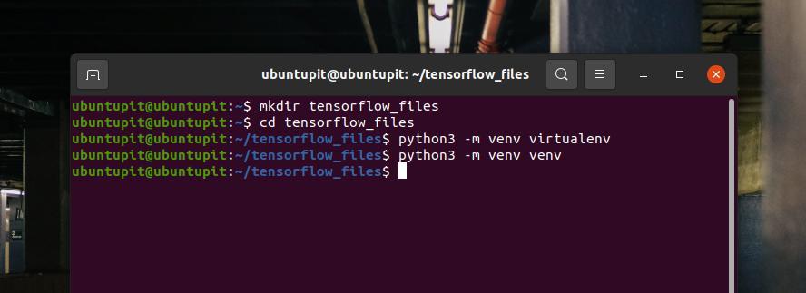 mkdir TensorFlow machine learning files