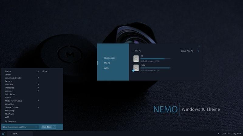 nemo - windows skins