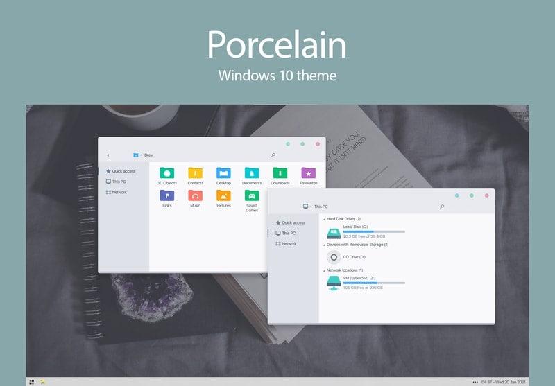 porcelain - windows skins
