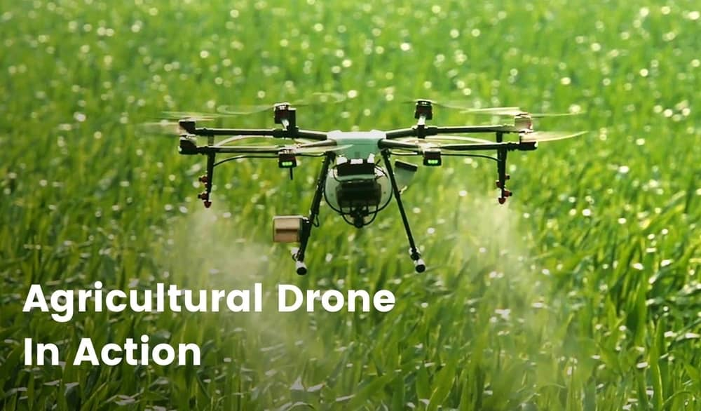 Agricultural Drone In Action