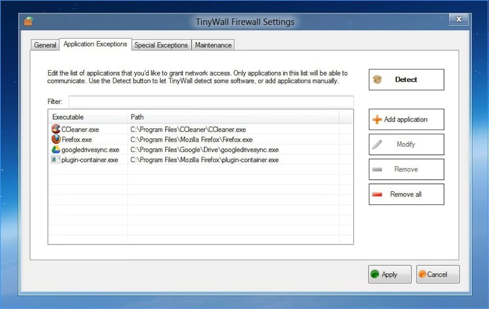 Tinywall - Best Firewall for windows 10