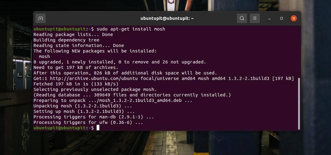 install mosh on Linux