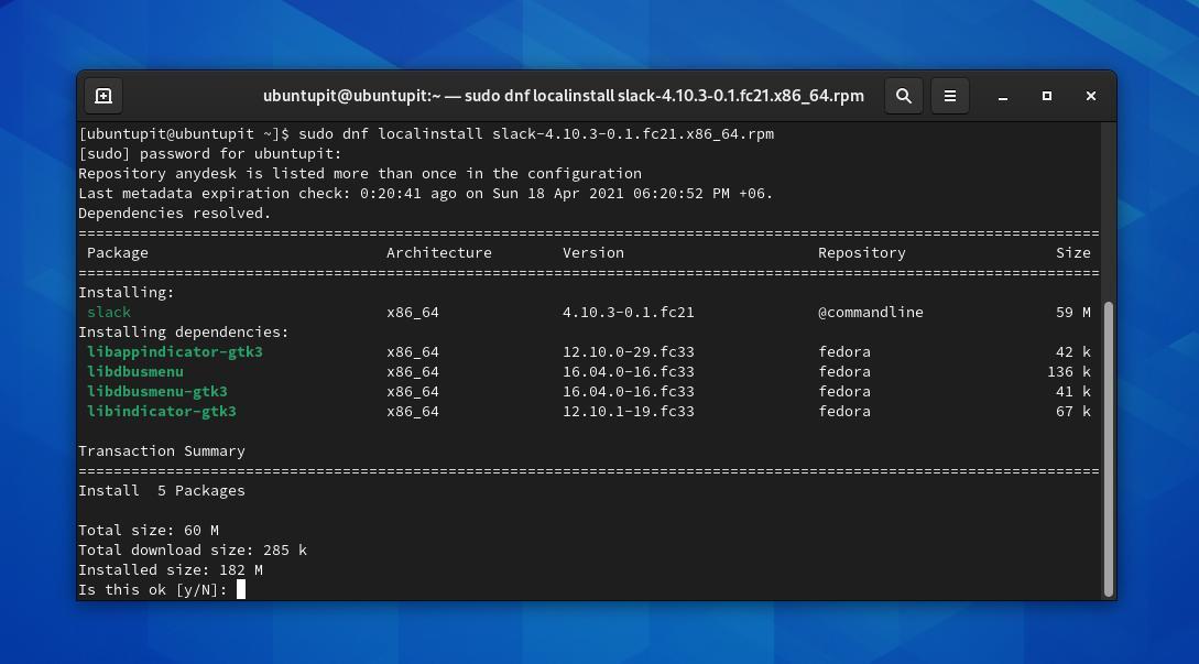install via DNF on Fedora