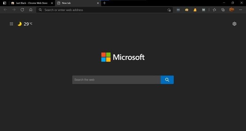 just_black - Microsoft Edge Themes