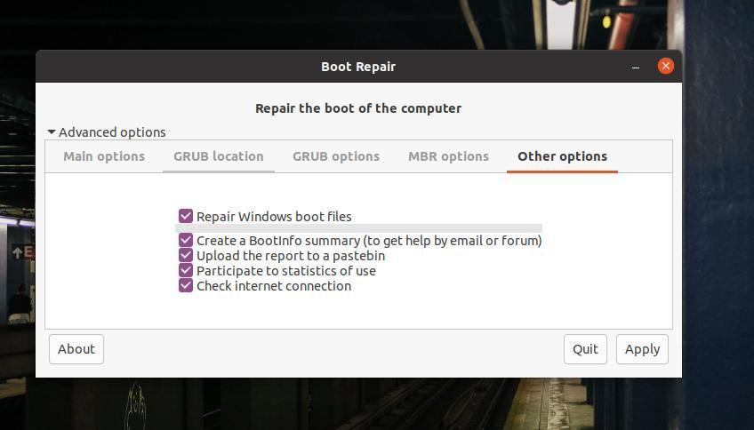 other GRUB options