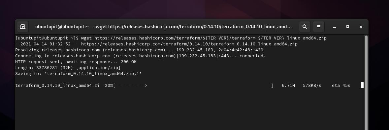 wget download terraform on Fedora
