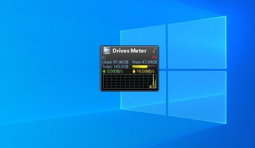Drives Meter - widget for Windows