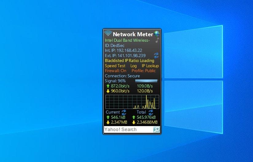 Network Meter - widget for Windows