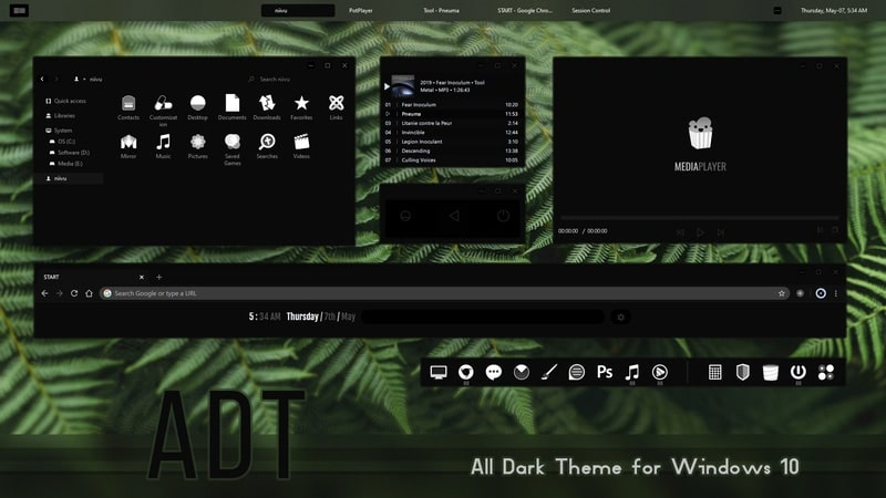 adt - Windows dark theme
