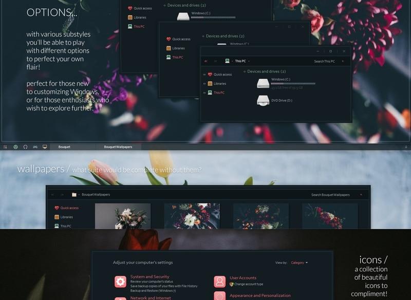 bouquet - Windows dark theme