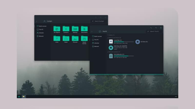 matte - Windows dark theme