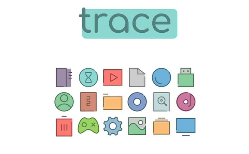 trace - windows icons pack
