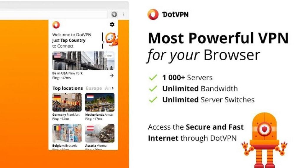 DotVPN - Best for google chrome