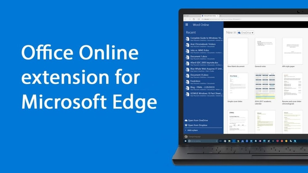 Office Online Extension for Microsoft Edge