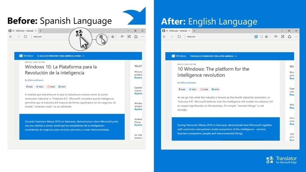 Translator Extension for Microsoft Edge