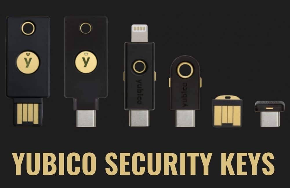 YUBICO SECURITY KEYS