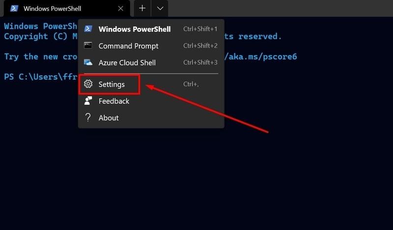 apply terminal theme using json