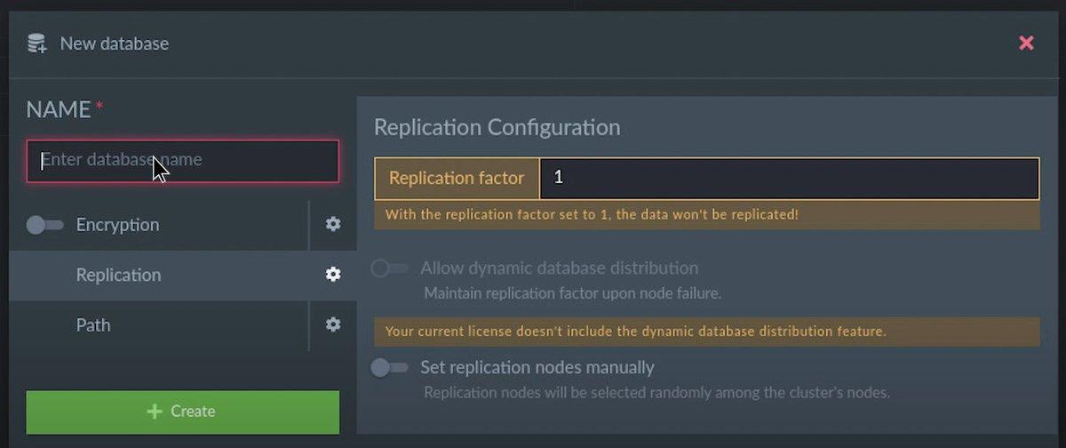 create new database on ravendb on ubuntu