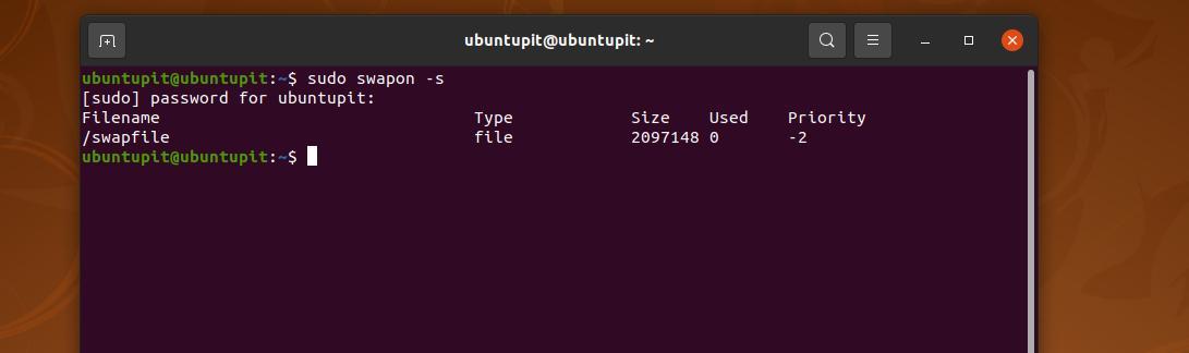 current swap size