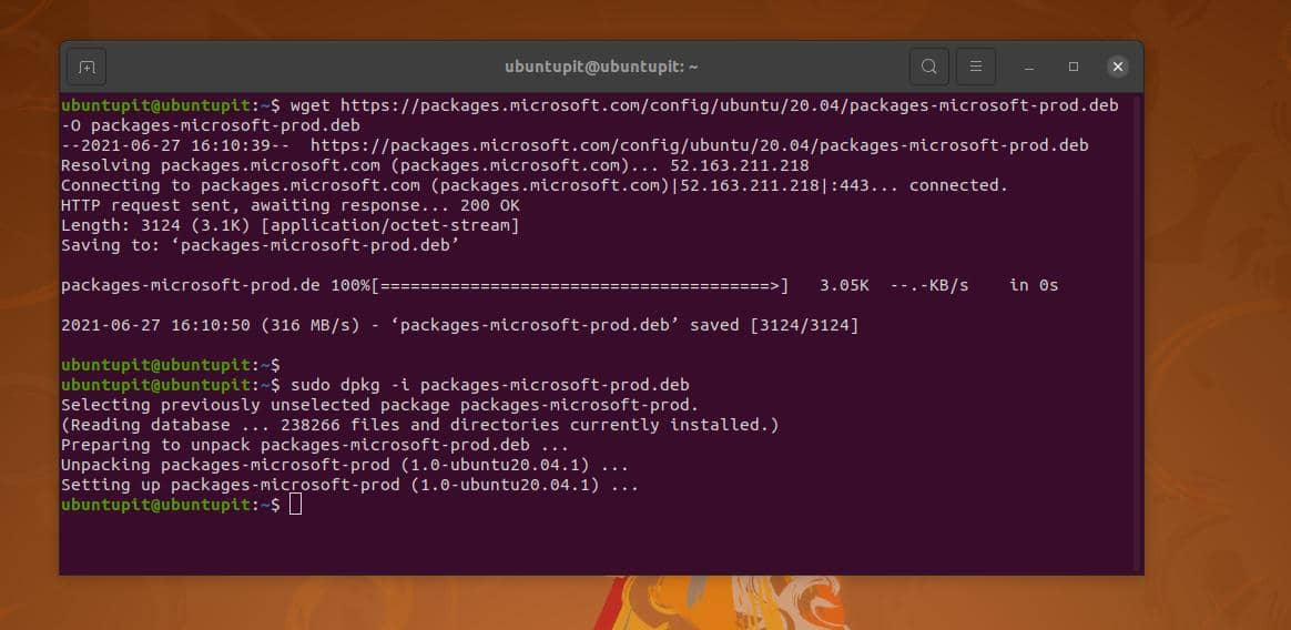 download and install MS prob for Linux