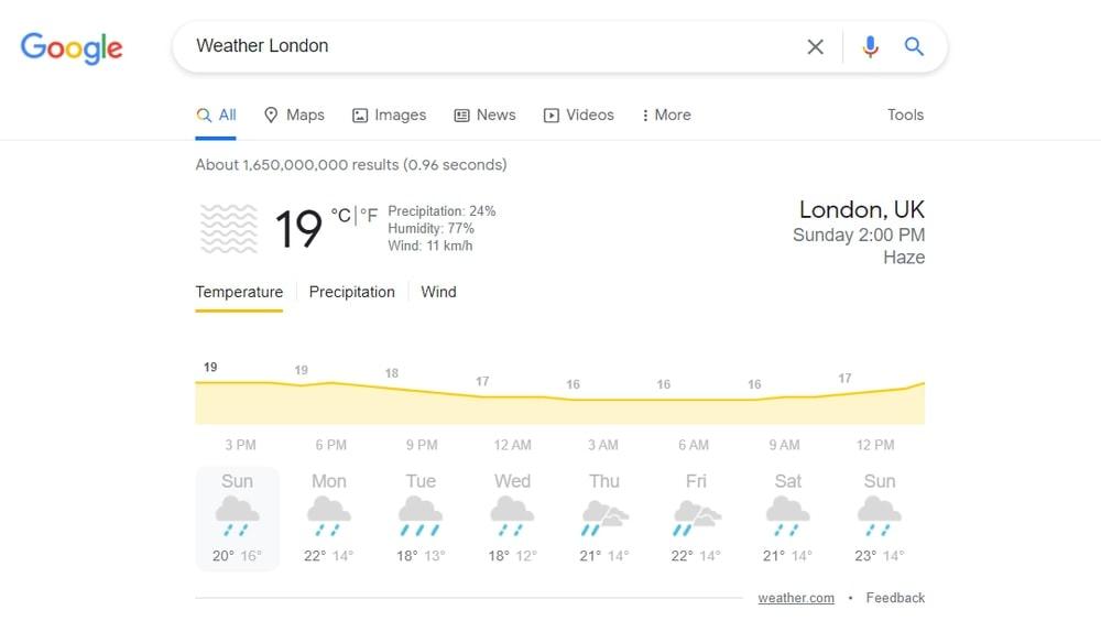 Get Live Weather Update