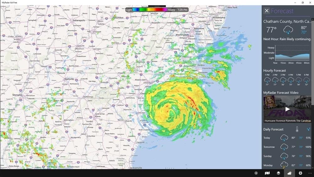 MyRadar Weather Radar _ Weather app for Windows 10