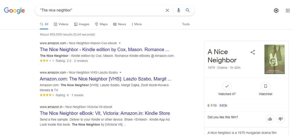 Google Search a specific phrase