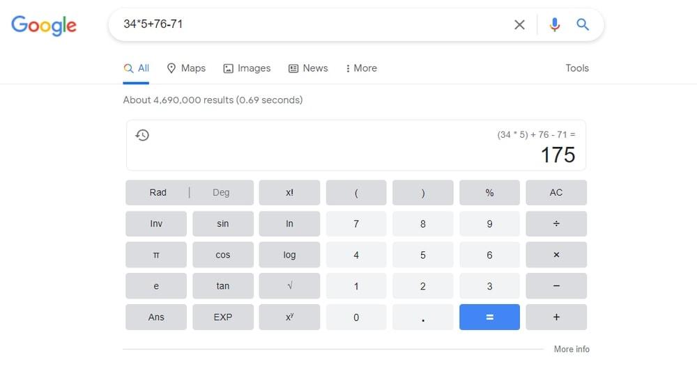 Solve Calculation