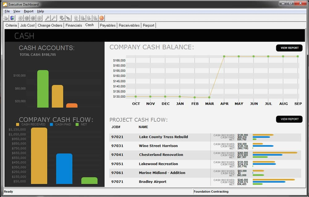 FOUNDATION construction accounting software