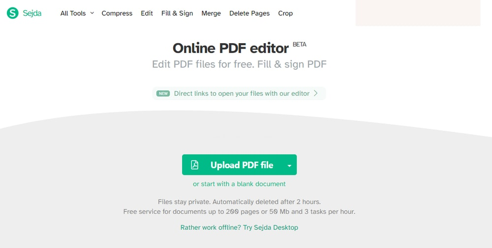 Sejda Best Online PDF Editor