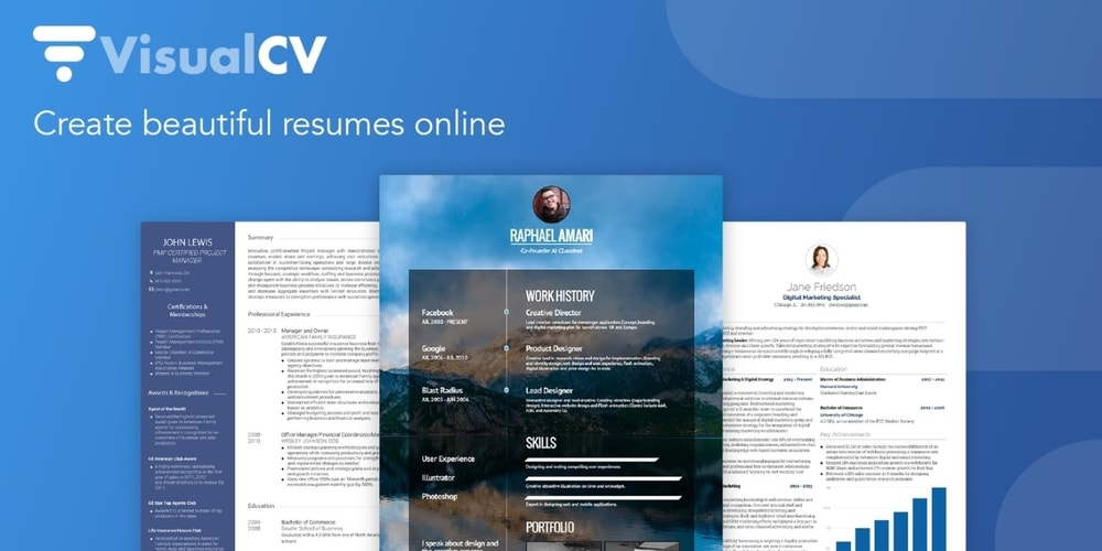 VisualCV Online Resume Builder