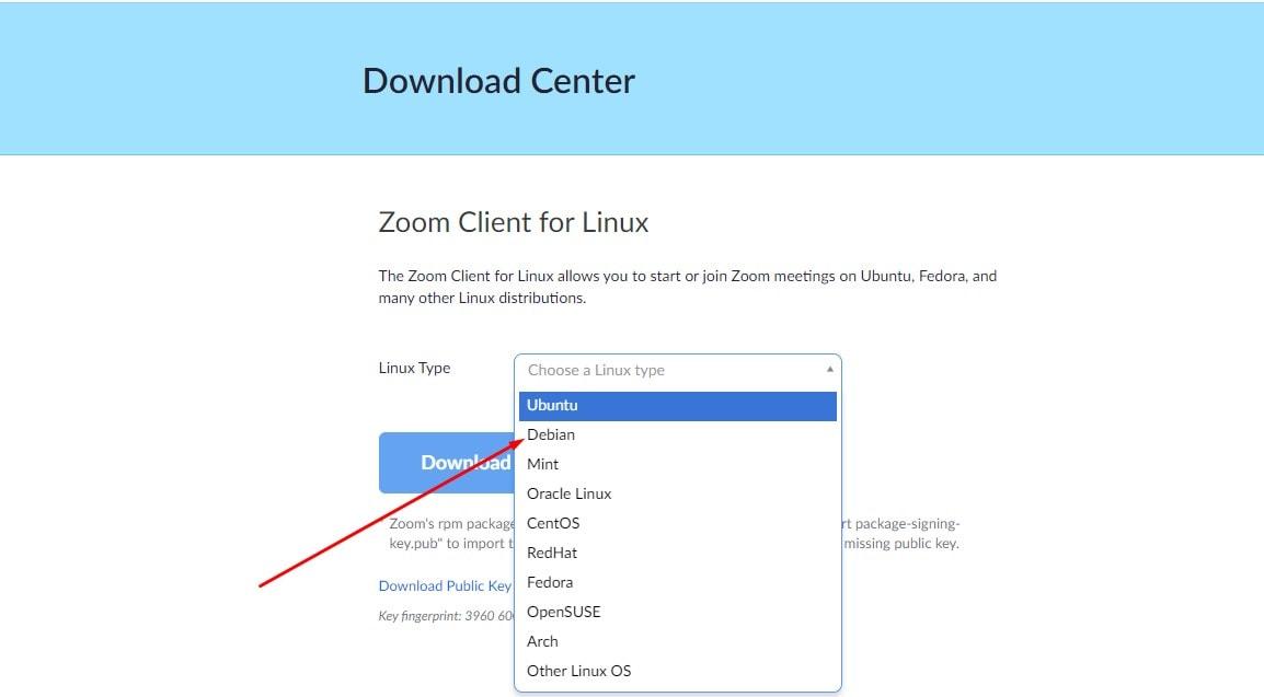 download zoom on Ubuntu
