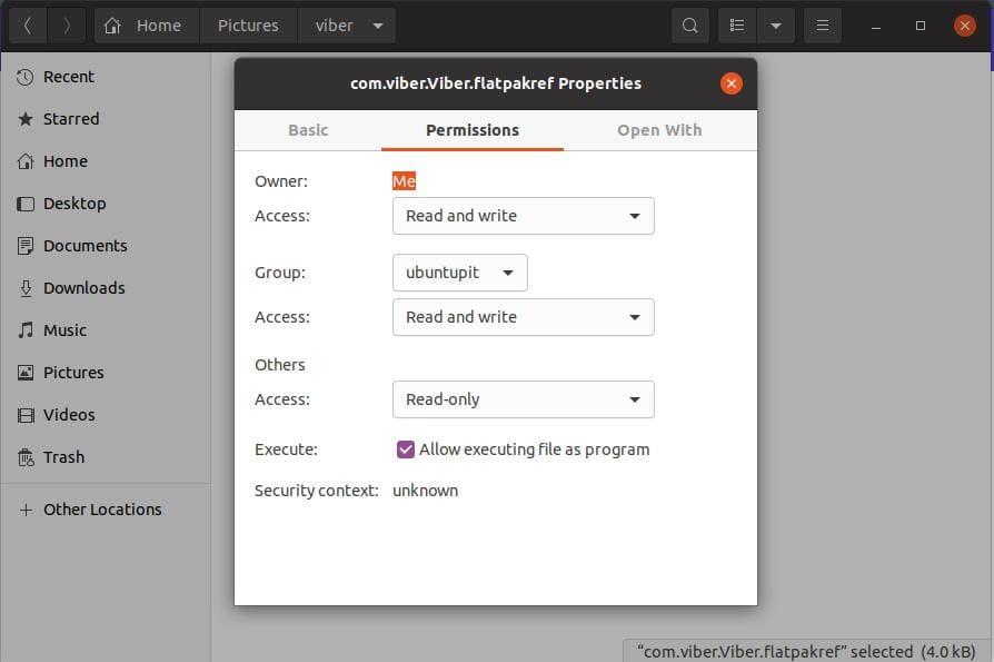 flatpak access to install viber on ubuntu